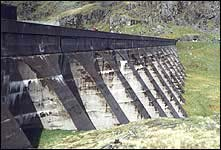 Stwlan Dam in Wales