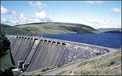 Claerwen Dam in Wales