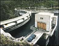 Monar Dam in Scotland